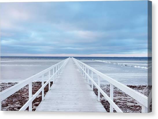 Sweden Canvas Print - The Bridge by Jacek Oleksinski