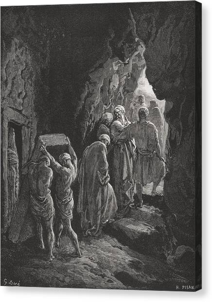 Holy Bible Canvas Print - The Burial Of Sarah by Gustave Dore