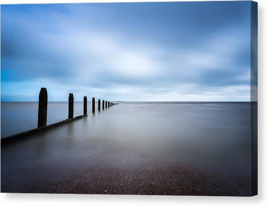Canvas Print featuring the photograph The Calm Sea. by Gary Gillette
