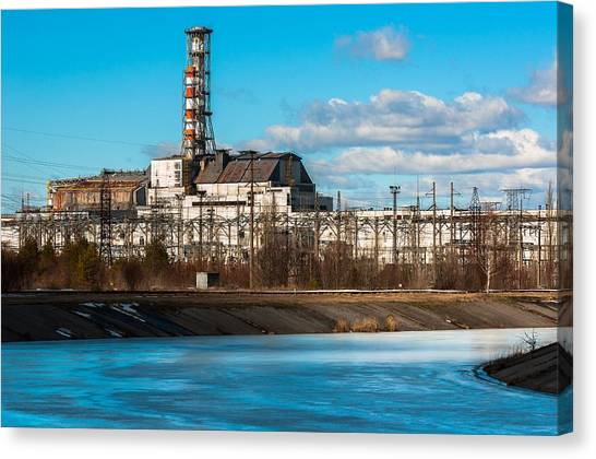 Nuclear Plants Canvas Print - The Chernobyl Nuclear Pwer Plant 2012 March 14 by Oliver Sved