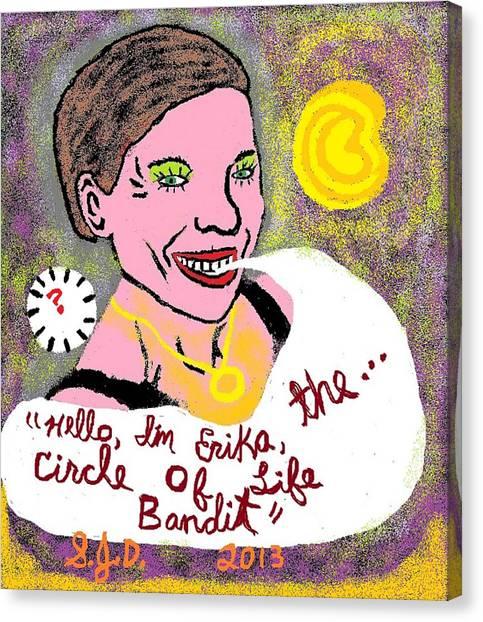 The Circle Of Life Bandit Canvas Print by Joe Dillon