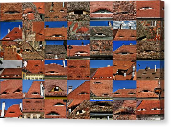 The City's Eyes Sibiu Hermannstadt Romania Canvas Print