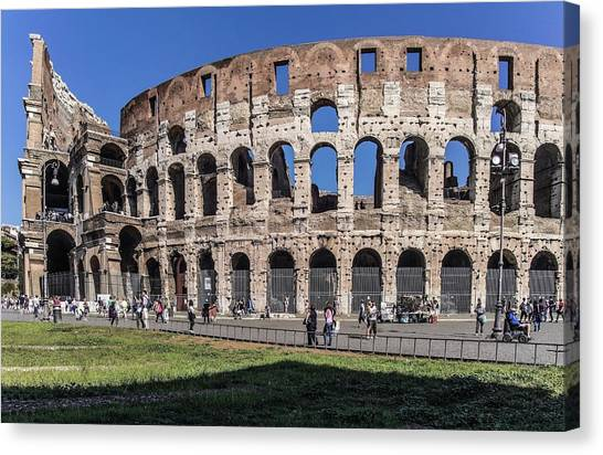 The Amphitheatre Canvas Print - The Colosseum by Brian Gadsby