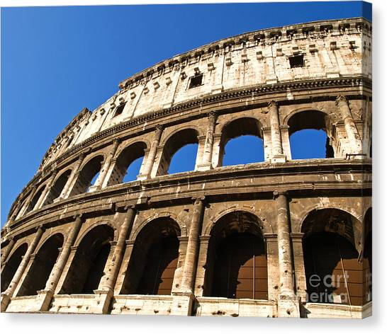 The Colosseum Canvas Print - The Colosseum In Rome by Alex Cassels