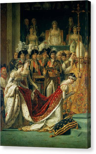 Bishops Canvas Print - The Consecration Of The Emperor Napoleon 1769-1821 And The Coronation Of The Empress Josephine by Jacques Louis David