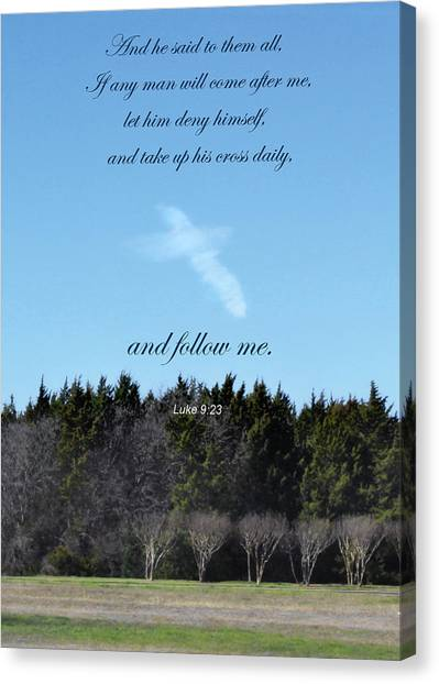 Bible Verses Canvas Print - The Cross by David and Carol Kelly