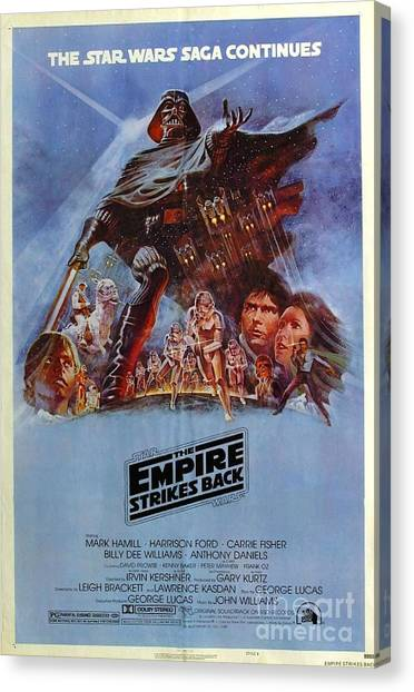 Empire Canvas Print - The Empire Strikes Back by Baltzgar