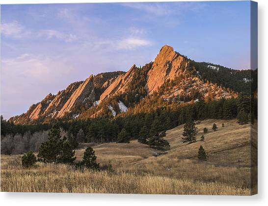 Colorado Rockies Canvas Print - The Flatirons by Aaron Spong
