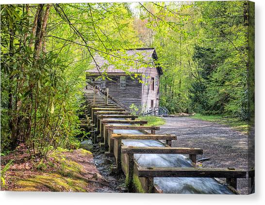 The Flume At Mingus Mill Canvas Print
