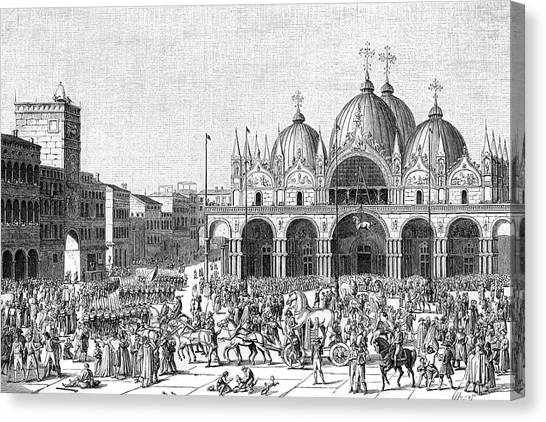 The French Pillage Venice,  Carrying Canvas Print by Mary Evans Picture Library