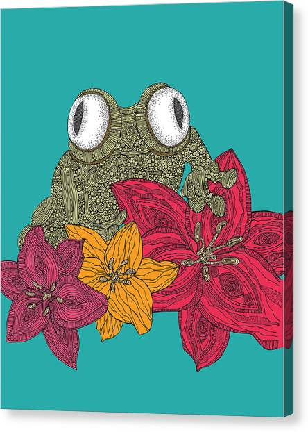 Frogs Canvas Print - The Frog by Valentina Ramos
