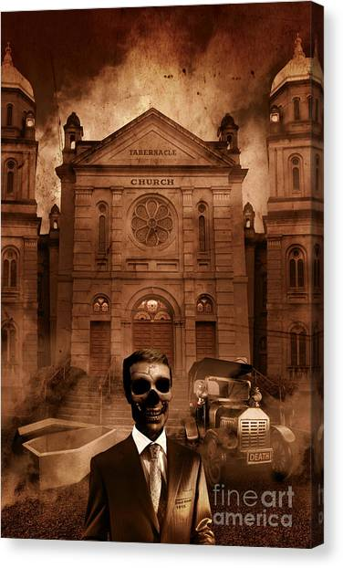 Undertaker Canvas Print - The Funeral Director by Jorgo Photography - Wall Art Gallery