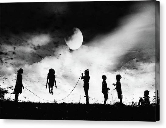 Rope Canvas Print - The Game High Jump by Jay Satriani