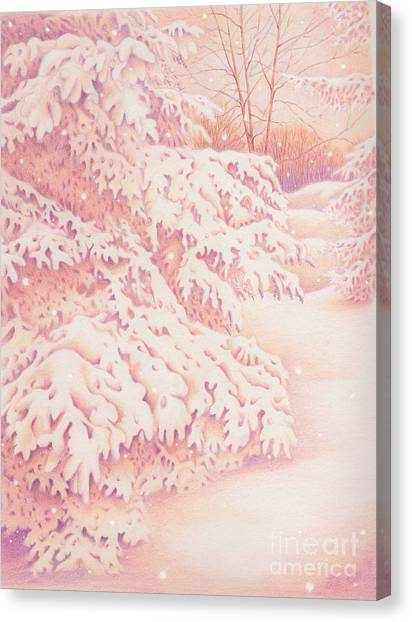 The Gently Falling Snow Canvas Print