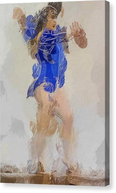 Balance Beam Canvas Print - The Girl by Steve K