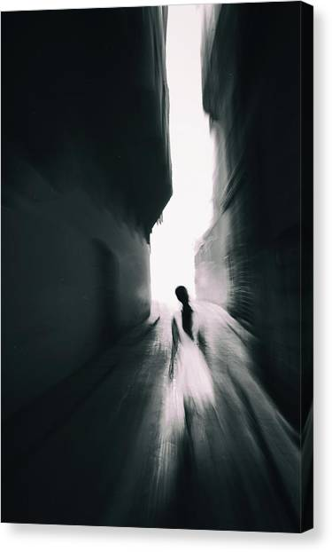 Florence Canvas Print - The Girl With White Dress by Gabriel Bistriceanu