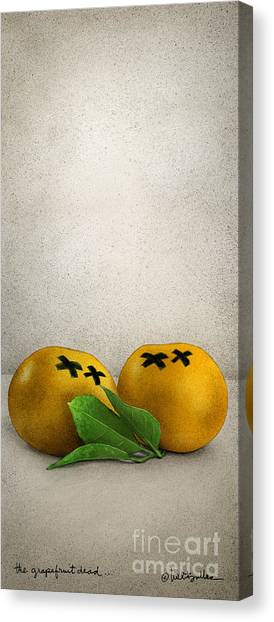 Grapefruits Canvas Print - The Grapefruit Dead... by Will Bullas