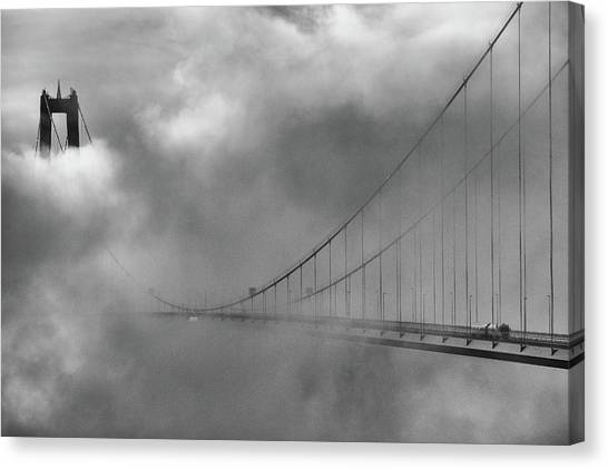 Sweden Canvas Print - The High Coast Bridge by Joakim Orrvik