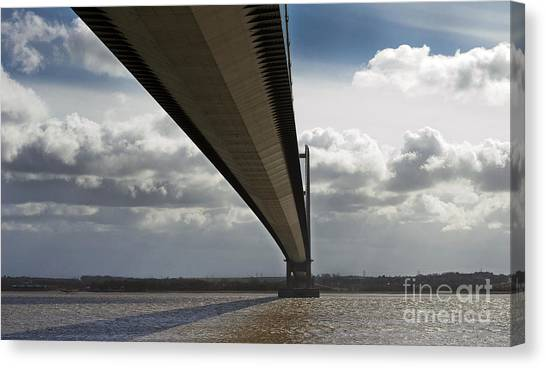 The Humber Bridge Canvas Print by Andrew Barke