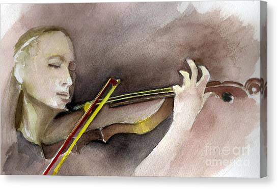 The Violin Canvas Print