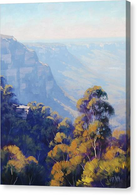 Neck Canvas Print - The Jamison Valley by Graham Gercken