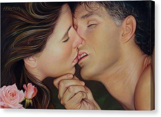 Passionfruit Canvas Print - The Kiss by Patrick Anthony Pierson