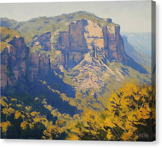 Neck Canvas Print - The Landslide Katoomba by Graham Gercken