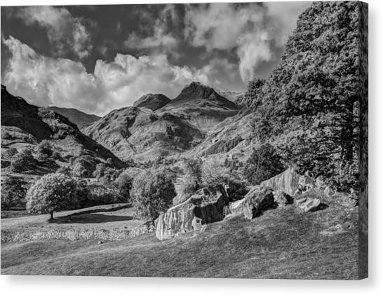 The Langdale Pikes From Copt Howe Canvas Print by Graham Moore