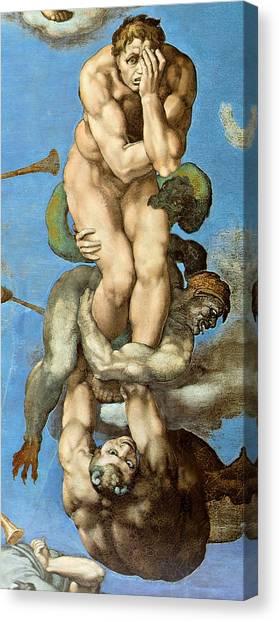 Michelangelo Simoni Canvas Print - The Last Judgment - Detail by Michelangelo Buonarroti