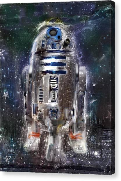Droid Canvas Print - The Little Guy by Russell Pierce