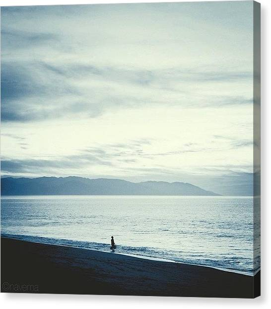 Minimalism Canvas Print - The Lonely Fisherman by Natasha Marco