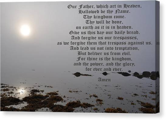 The Lord's Prayer Canvas Print by Daryl Macintyre