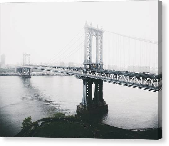 New York City Canvas Print - The Manhattan Bridge by Natasha Marco