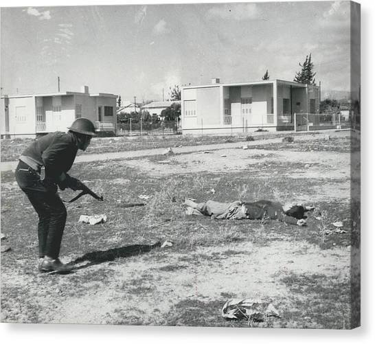 The Massacre Of Limassol Canvas Print by Retro Images Archive