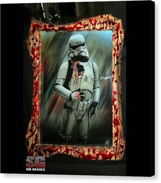 Stormtrooper Canvas Print - The Next Generation by Sid Graves
