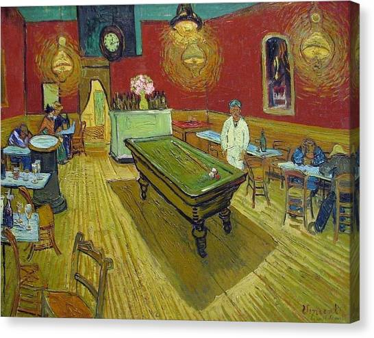 Yale University Canvas Print - The Night Cafe by Vincent van Gogh