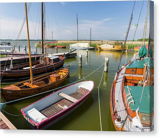 Pomeranians Canvas Print - The Old Harbor In Wieck by Martin Zwick