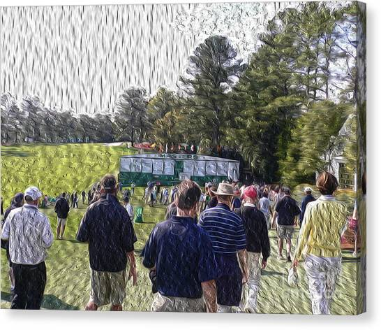 Jack Nicklaus Canvas Print - The Patrons by David Bearden