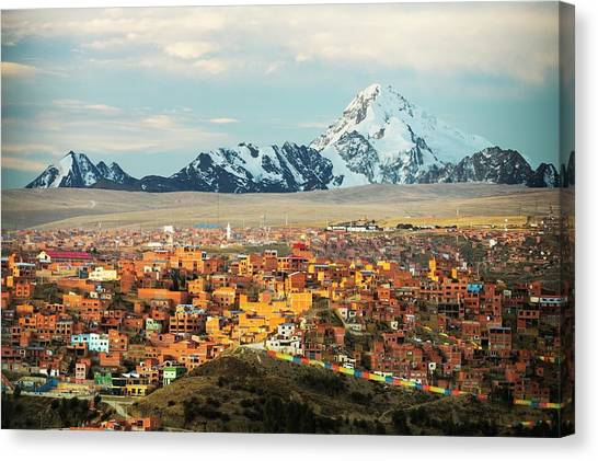Bolivian Canvas Print - The Peak Of Huayna Potosi by Ashley Cooper/science Photo Library