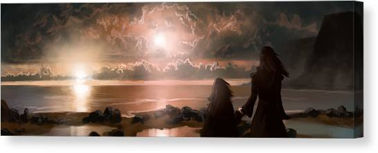 The Pioneers Canvas Print by Mark Zelmer
