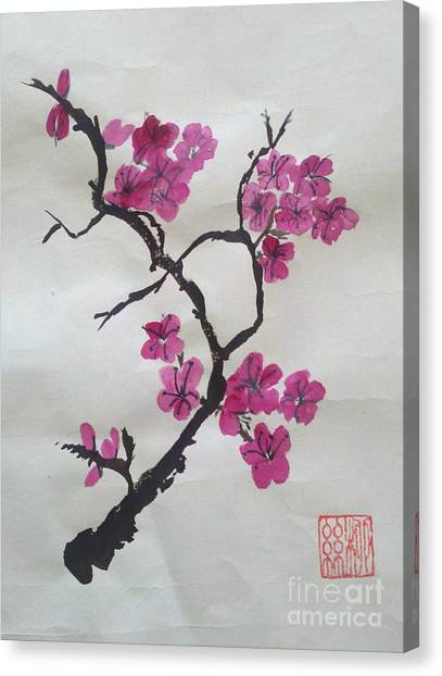 The Plum Blossom Canvas Print