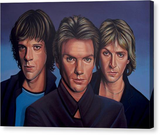 Punk Canvas Print - The Police by Paul Meijering
