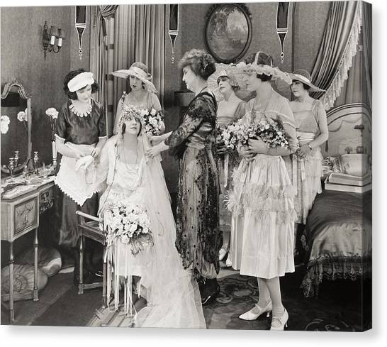 Wedding Gown Canvas Print - The Power Within, 1921 by Granger
