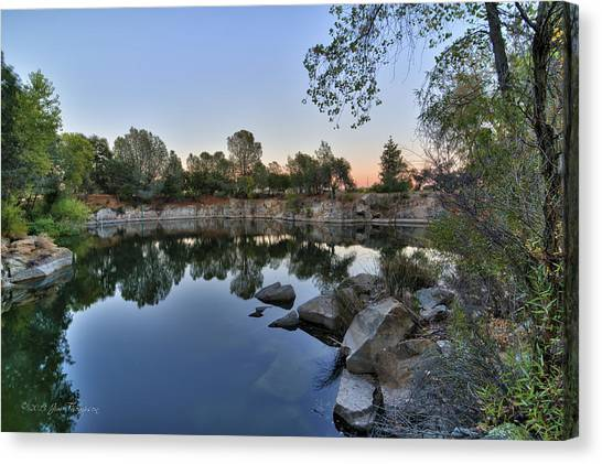 Canvas Print featuring the photograph The Quinn Quarry by Jim Thompson