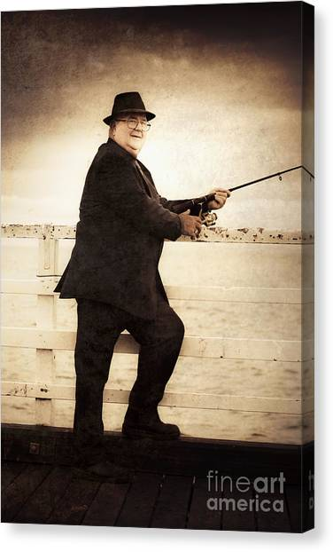Angling Art Canvas Print - The Retired Skipper by Jorgo Photography - Wall Art Gallery
