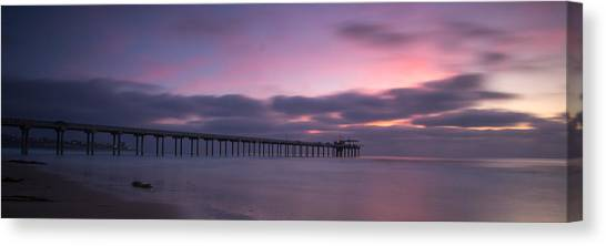Big Sky Canvas Print - The Scripps Pier by Peter Tellone