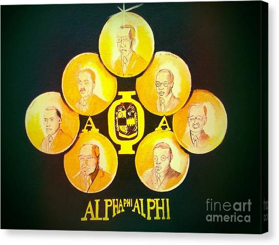 Alpha Phi Canvas Print - The Seven Jewels by Chuck Collins