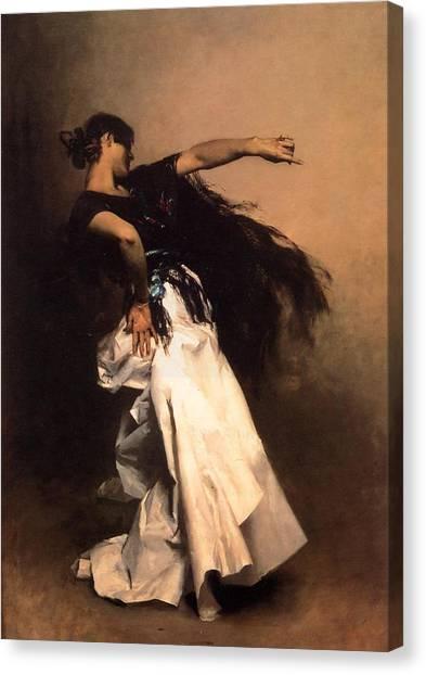 Flamenco Canvas Print - The Spanish Dancer by John Singer Sargent