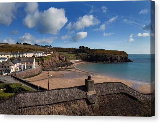 Waterford Canvas Print - The Strand Inn And Dunmore Strand by Panoramic Images