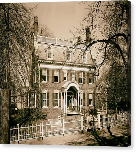 Brown University Canvas Print - The Taft House - Brown University 1958 by Mountain Dreams